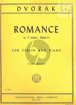 Dvorak Romance f-minor Op.11 Violin-Piano (Josef Gingold)