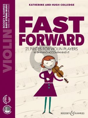 Fast Forward Violin and Piano Book with Audio online (A Third Book of 21 Pieces for Beginner)