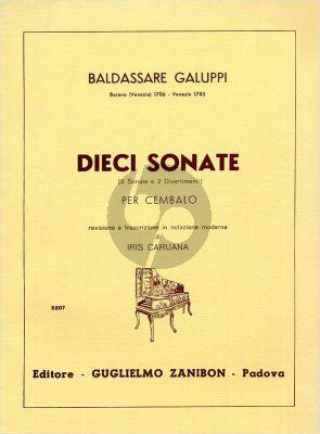 Galuppi 10 Sonatas (8 Sonate e 2 Divertimenti) Cembalo (Iris Caruana)