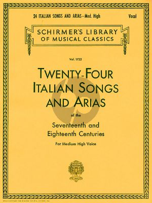 24 Italian Songs & Arias of the 17th & 18th Century Medium High
