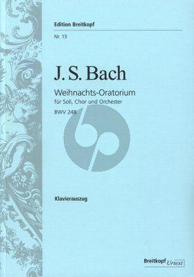 Bach Weihnachts Oratorium BWV 248 (Soli-Choir-Orch.) (Vocal Score) (germ./engl.) (Breitkopf)