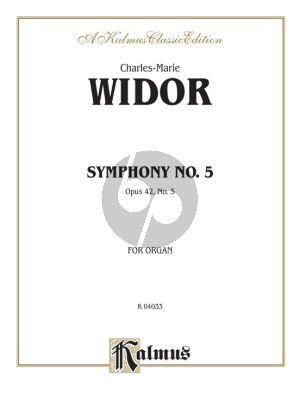 Widor Symphony No.5 F-major Op.42 Organ