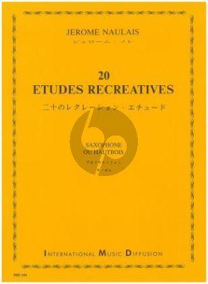 Naulais 20 Etudes Recreatives pour Saxophone (interm.grade)