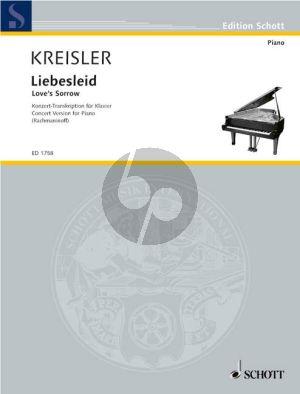Liebesleid Klavier