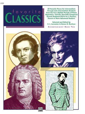 Lancaster Renfrow Favorite Classics Vol.2 Accompanent Book (Level Intermediate/Late Intermediate)