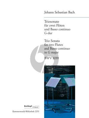 Bach Trio Sonata in G-major BWV 1039 2 Flutes-Bc (Kuijken)
