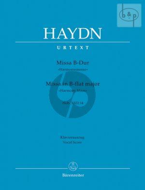 Haydn Messe B-dur (Harmonie-Messe) Hob.XXII:14 Soli-Choir-Orchestra (Vocal Score) (edited by Friedrich Lippmann)