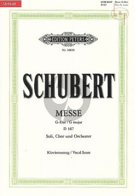 Messe G-dur D.167 STB soli-Choir-Orch.) (Vocal Score)