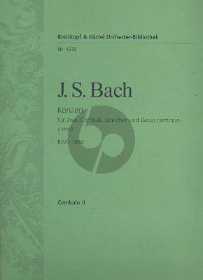 Bach Konzert c-moll BWV 1060 2 Cembali-Streicher-Bc Cembalo 2 Stimme