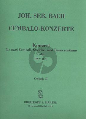 Bach Konzert C-dur BWV 1061 2 Cembali-Streicher-Bc Cembalo 2 Stimme
