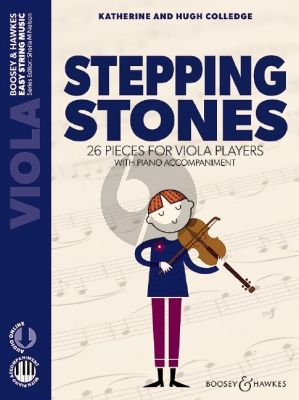Colledge Stepping Stones (First Book of 26 Pieces for Beginners for Viola with Piano Accompaniment) (Book with Audio online)