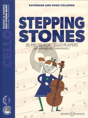 Colledge Stepping Stones (First Book of 26 Pieces for Beginner Cellists with Piano Accompaniment) (Book with Audio online)
