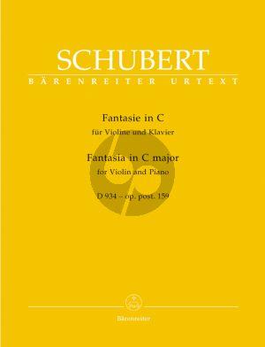 Fantasie C-dur Op.Posth.159 Violine-Klavier