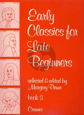 Dawe Early Classics for late Beginners Vol.3 Piano