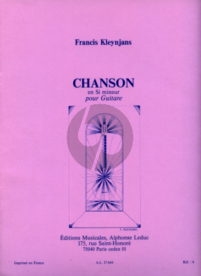 Kleynjans Chanson en Si Mineur pour Guitare