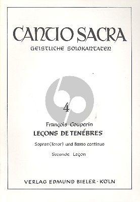 Couperin Lecons de Tenebres 2e Lecon Sopranstimme-Bc