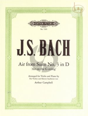 Air from Suite No.3 D-major BWV 1068 Violin and Piano