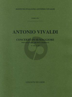 Vivaldi Concerto B fl. maj. F.VIII n.24 bassoon-strings-cembalo