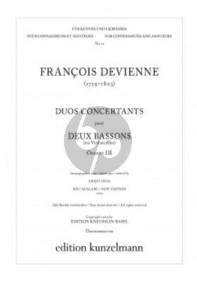 Devienne 3 Duos Concertants Op.3 (2 Bassons ou 2 Violoncelles) (Stimmen/Parts) (edited by Ernst Hess)