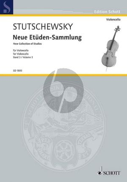 Stutschewsky Neue Etuden-Sammlung Vol.3 (All lower positions in thumb postions) Violoncello