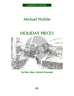 Walshe Holiday Pieces Flute-Oboe-Clar.-Bassoon (Score/Parts)