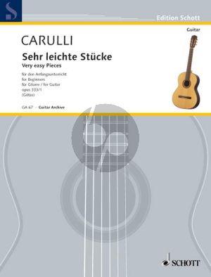Carulli 6 Sehr Leichte Stucke Op.333 /1 Gitarre (Walter Götze)