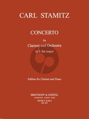 Stamitz Concerto E-flat Major Clarinet and Orchestra (piano reduction) (edited by Himie Voxman and Richard Hervig)