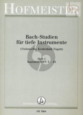 Studien Vol.1 Kantaten BWV 3 - 45