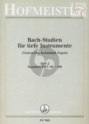 Studien Vol.2 Kantaten BWV 49 - 100