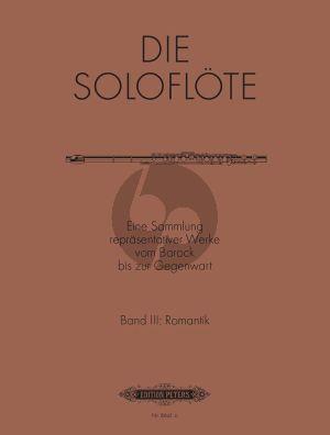 Album Die Soloflote Vol.3: Romantik (Eine Sammlung reprasentativer Werke vom Barock bis zur Gegenwart) (Herausgegeben von Mirjam Nastasi)