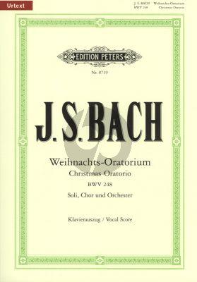 Bach Weihnachts Oratorium BWV 248 Soli-Choir-Orch. Vocal Score (edited Johannes Muntschick) (Peters-Urtext)