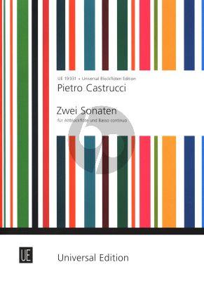 Castrucci 2 Sonaten Op. 1 No. 5 und 6 Altblockflöte und Bc (Eichberger/Petrenz)