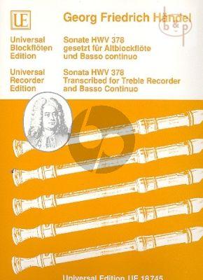 Sonata HWV 378