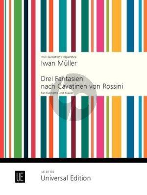 3 Fantasien nach Cavatinen von Rossini Op. 27 Klarinette-Klavier