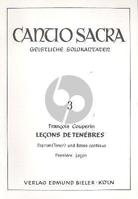 Couperin Lecons de Tenebres premiere lecon Sopranstimme-Bc