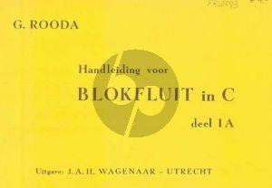 Rooda Handleiding voor Blokfluit 1A