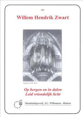 Zwart Op Bergen en In Dalen Leid Vriendelijk Licht Orgel