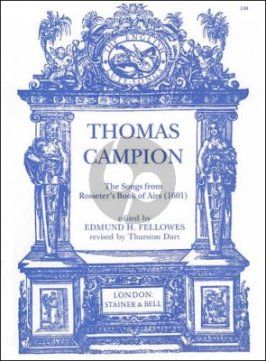 Campion Songs from Rosseter's Book of Ayres (1601) for Voice and Lute