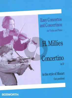 Millies Concertino D-major in the style of Mozart Violin - Piano (1st Position)