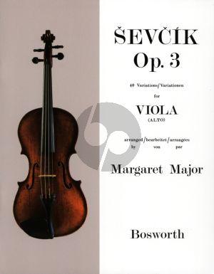 Sevcik 40 Variations Op.3 for Viola (Altviool) (arranged by Margaret Major)