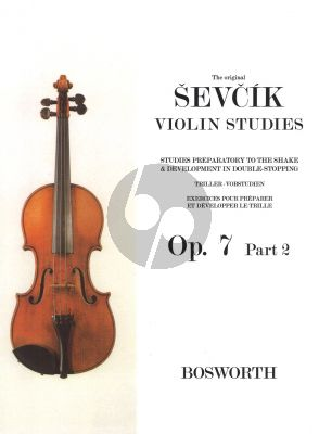 Sevcik Studies Preparatory to the Shake & Development in Double-Stopping Op.7 Vol.2 Violin (2nd- 6th Positions)