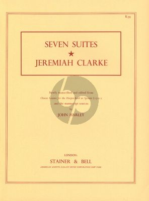 Clarke 7 Suites for Harpsichord (edited by John Harley)