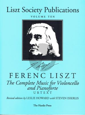 Liszt Complete Music Violoncello-Piano (Urtext) (with Harp and Harmonium[Organ] part) (Howard-Isserlis)