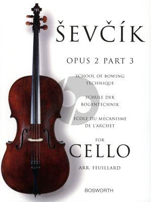 Sevcik School of Bowing Technique Op.2 Vol.3 for Cello (Feuillard)