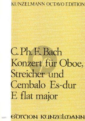 Bach Konzert Es-Dur Oboe-Streicher-Bc Partitur