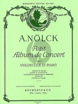 Nolck Petit Album de Concert Violoncello-Piano