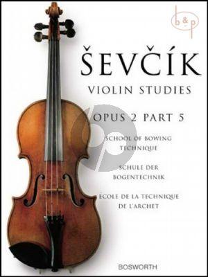 School of Bowing Technique Op.2 Vol.5 Violin
