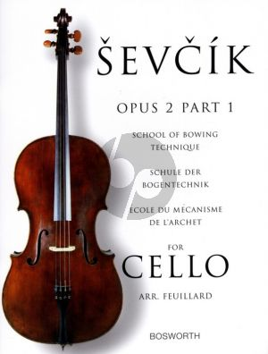 Sevcik School of Bowing Technique Op.2 Vol.1 for Cello (Feuillard)