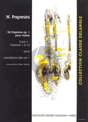 Paganini 24 Caprices Op.1 Vol.1 Alto Saxophone (Nos.1 - 12) (transcr. Vadrot)