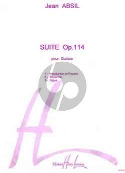 Absil Suite Op. 114 Guitare